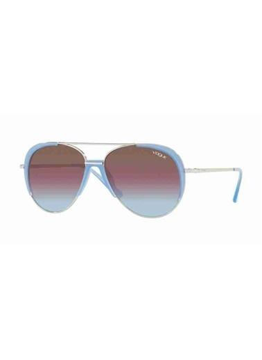 Vogue Vogue 4097S 323/H7 58 Ekartman Kadın Güneş Gözlüğü Mavi